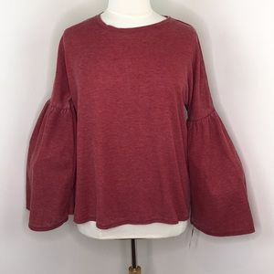 Xhilaration Red Bell Sleeve Blouse